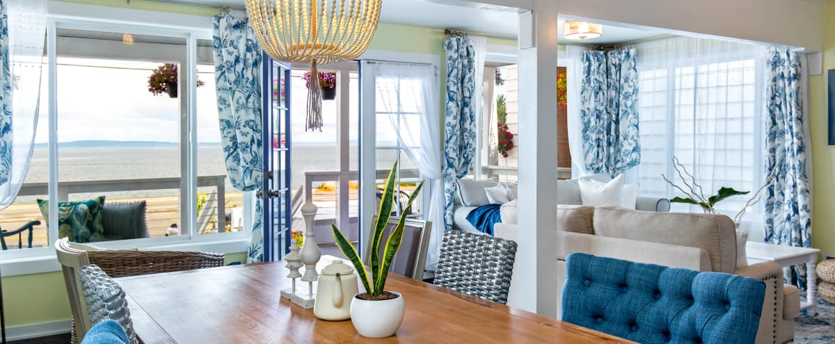 The Waterfront Gray: Beach House with Natural Light and Rooftop Deck in Seattle Hero Image in Alki, Seattle, WA