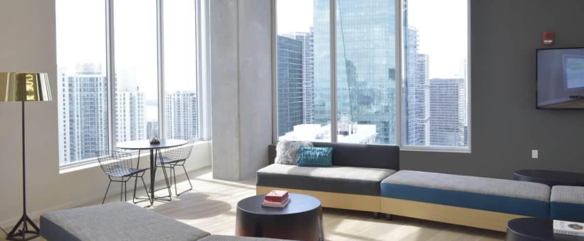 Downtown Minimal Loft with glass walls in Miami Hero Image in Downtown Miami, Miami, FL