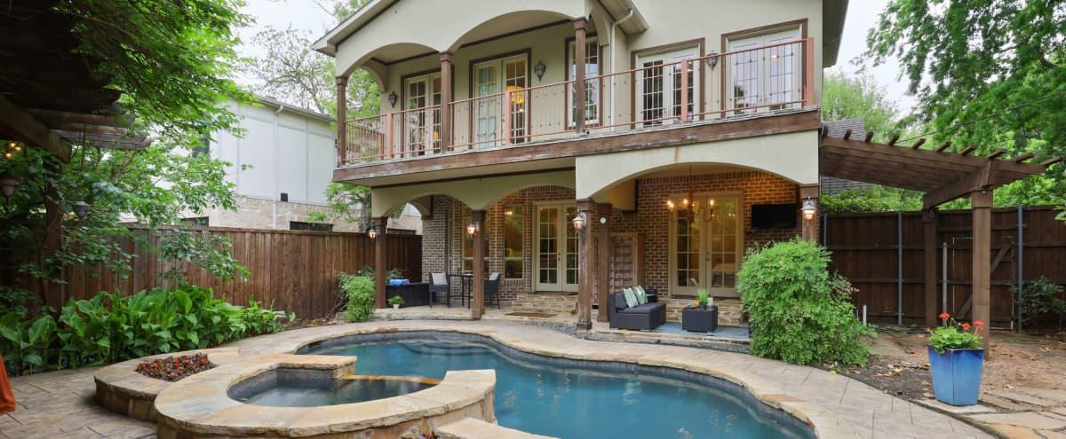 Modern Tudor with Backyard Oasis and Pool in Dallas Hero Image in Greenland Hills, Dallas, TX