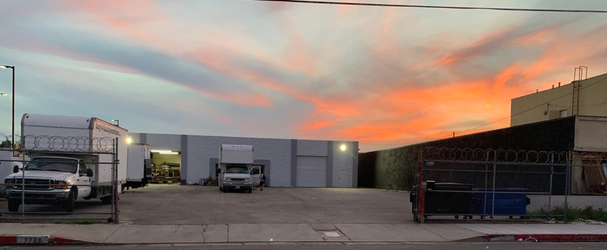 Warehouse space, Large gated parking lot