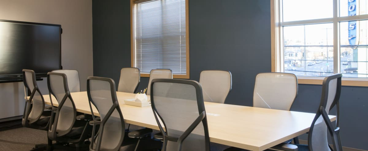 Large, Bright Conference Room with Whiteboard & TV in Seattle Hero Image in Wallingford, Seattle, WA