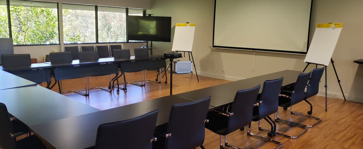 Fully Furnished attractive training session meeting room with full technology for up to 40 guests in Orange Hero Image in undefined, Orange, CA