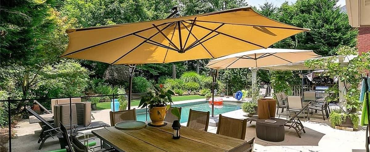 Eclectic Furnished Home + Beautiful Garden & Pool Area in ALPHARETTA Hero Image in undefined, ALPHARETTA, GA