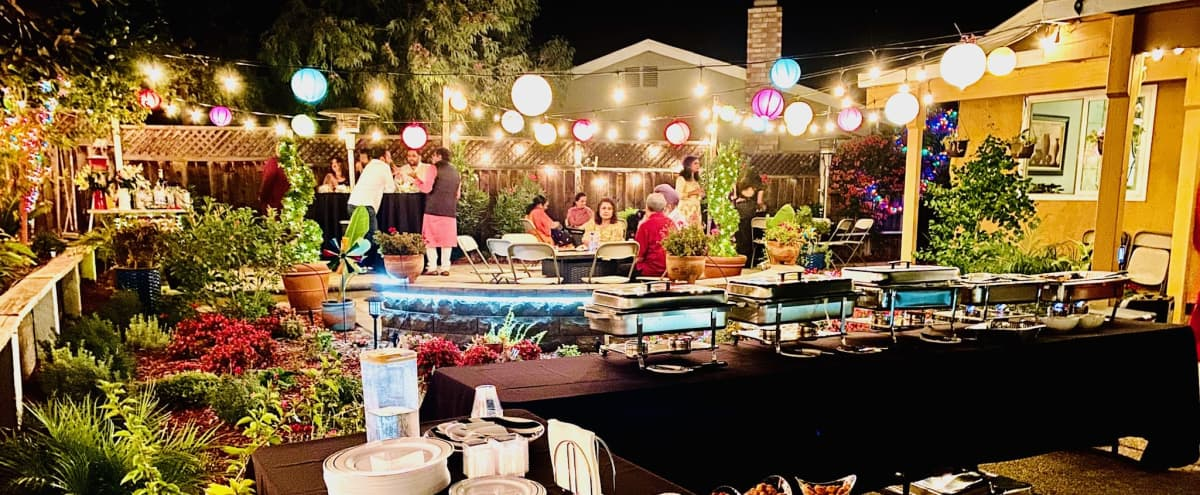 Outdoor space -Party, PhotoShoots, BDays, Baby Showers in a Serene Backyard with Pool in San Jose Hero Image in Silver Leaf, San Jose, CA