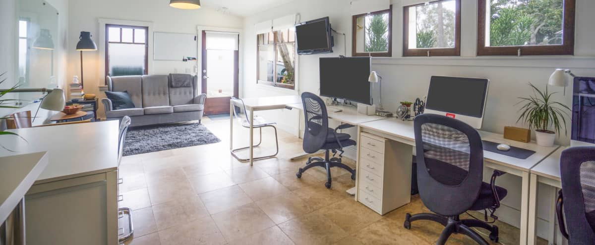 Studio Office Near the Pier with White Walls and Bright Windows in Redondo Beach Hero Image in South Redondo, Redondo Beach, CA