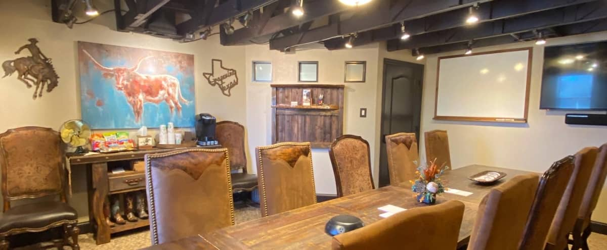 Rustic High-Tech Private Meeting Room for 12 in Grapevine Hero Image in undefined, Grapevine, TX