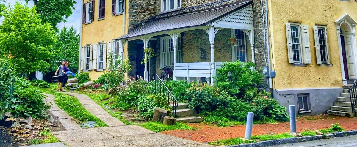 Large historic guest house with spacious back yard gardens and original details inside and out in Philadelphia Hero Image in Penn-Knox, Philadelphia, PA