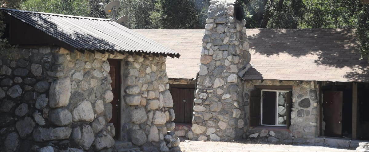 Rustic stone cabin next to river under magnificent oak trees, 11 miles north of Azusa in Azusa Hero Image in undefined, Azusa, CA