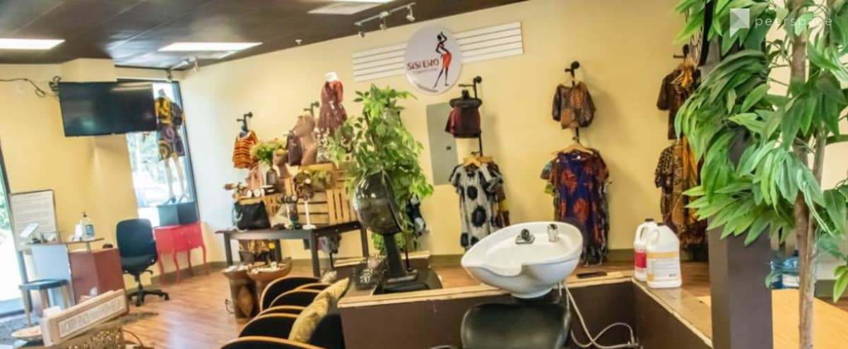 Urban African Inspired Hair Salon with Boutique space in Snellville Hero Image in Gwinnett Village, Snellville, GA