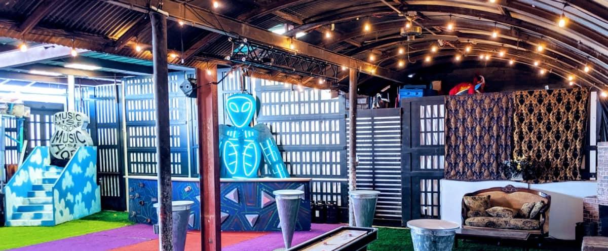 Funky Artsy Indoor/Outdoor Warehouse Event Space in Glendale Hero Image in Vineyard, Glendale, CA
