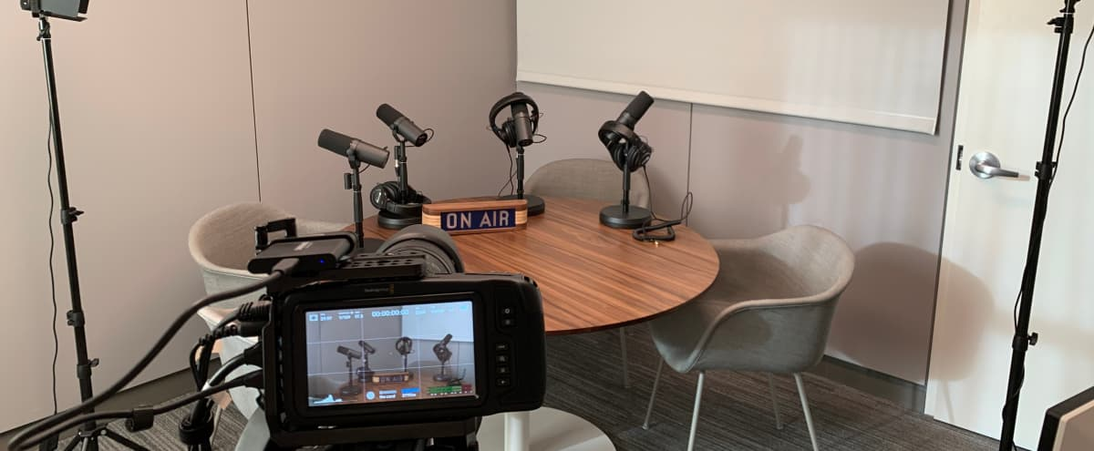 Soundproof Podcast Studio @ ESB | Free In-House Video & Audio Equipment in New York Hero Image in Midtown Manhattan, New York, NY