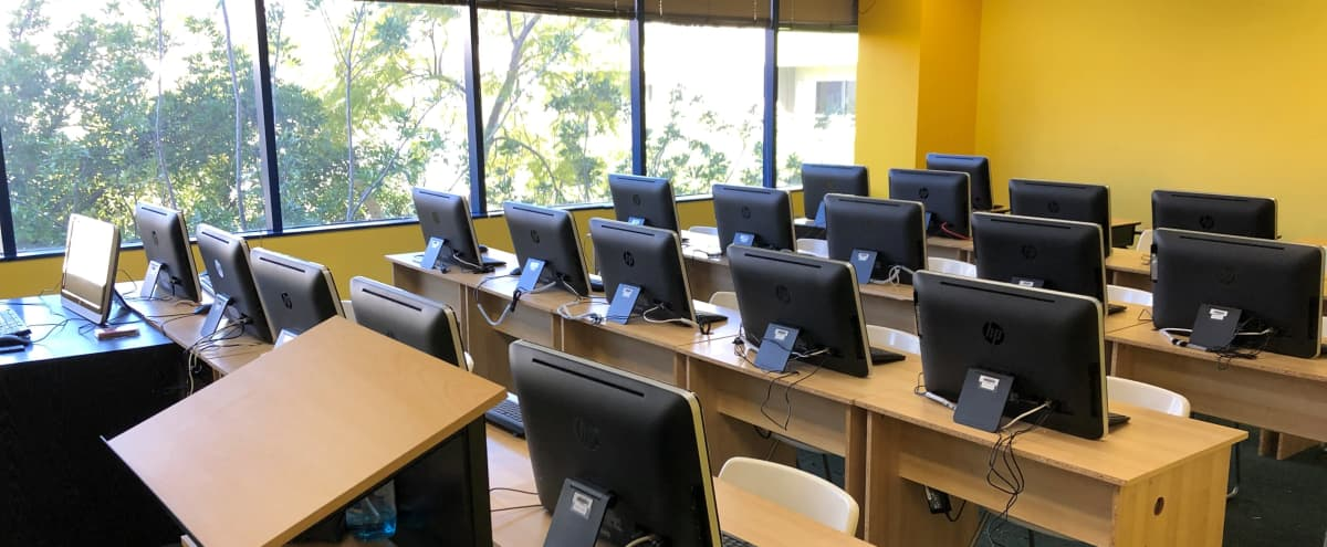 Modern Computer Classroom with Great Lighting in Los Angeles Hero Image in Central LA, Los Angeles, CA