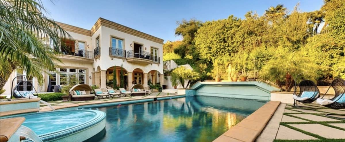 Beautiful tropical Beverly Hills Villa with city view in beverly hills Hero Image in undefined, beverly hills, CA