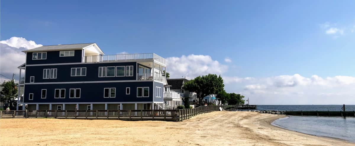 Get Inspired!  Chesapeake Bay Waterfront Retreat with Fast WiFi and Amazing Rooftop Deck in North Beach Hero Image in undefined, North Beach, MD