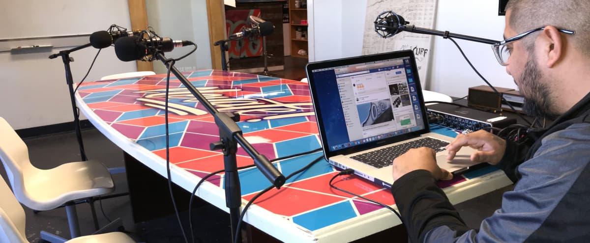 Modern urban creative Podcast Studio in Dallas Hero Image in Oak Cliff, Dallas, TX