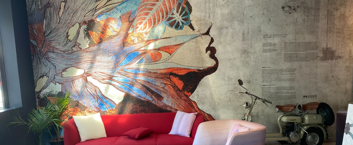 Custom Art Showroom with Outdoor Lounge and Bar in West Hollywood Hero Image in Central LA, West Hollywood, CA