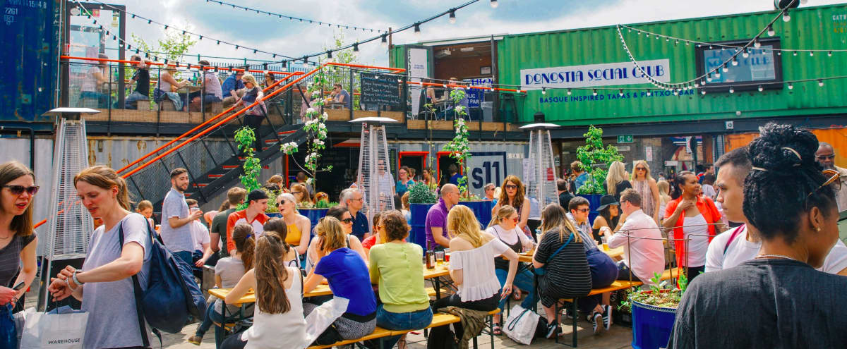 Shipping Container Street Food Market and Event Space in Buzzing Brixton in London Hero Image in Brixton, London,