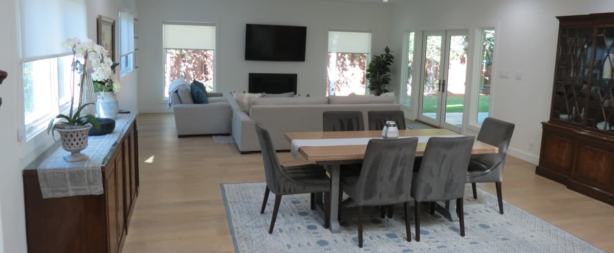Modern Elegance in Silicon Valley: spacy open living area and outdoors in Mountain View Hero Image in Cuesta Park, Mountain View, CA