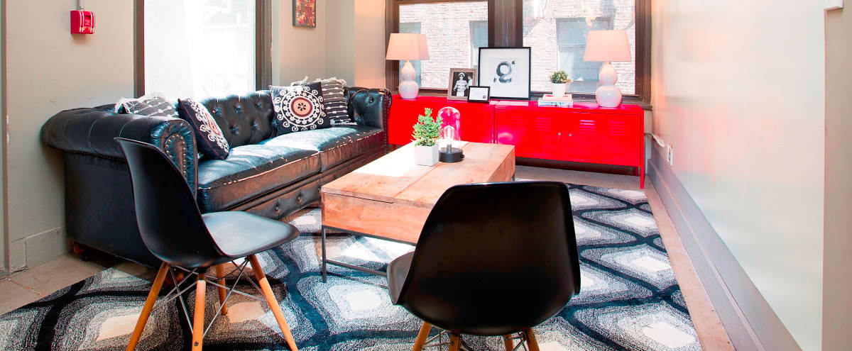 Lounge style meeting space, perfect for creative brainstorming in New York Hero Image in Midtown, New York, NY