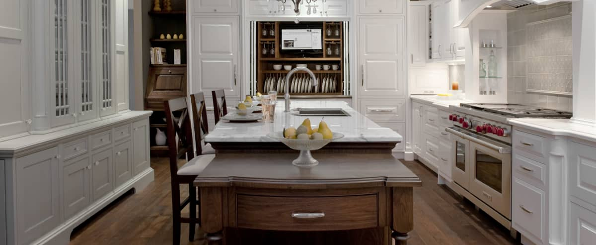 Elegant British Colonial Style Kitchen Set in Vancouver Hero Image in East Vancouver, Vancouver, BC