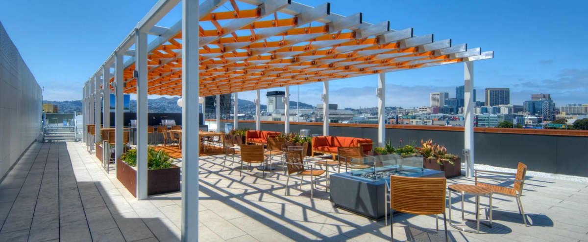 Downtown Rooftop Deck with Spectacular Skyline View in San Francisco Hero Image in SoMa, San Francisco, CA