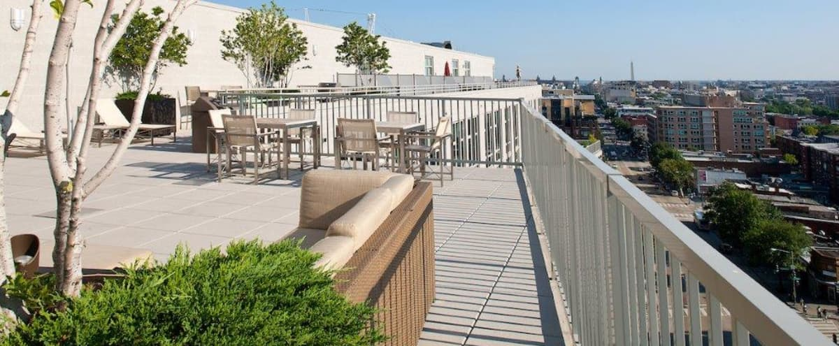 Rooftop Deck with Stunning view of Downtown DC in Washington Hero Image in Cardozo Shaw, Washington, DC