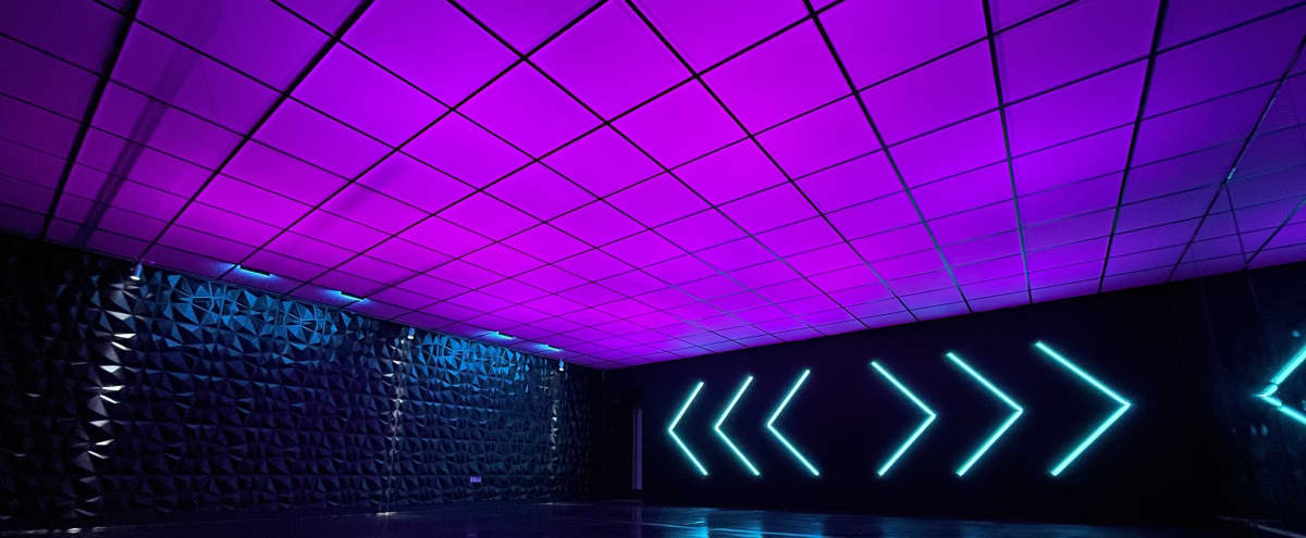 Color Changing Ceiling with High Gloss Floor Film/Photo/Dance Studio in Fremont Hero Image in East Industrial, Fremont, CA