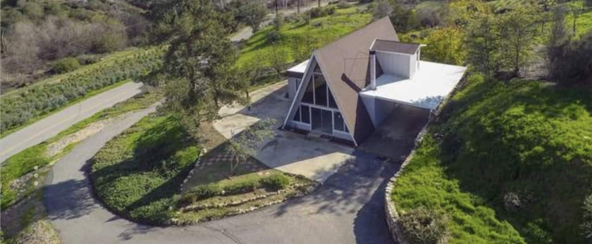 1970's A-Frame Countryhouse on 2.25 Acres Chic Rustic Countryside in Fallbrook Hero Image in undefined, Fallbrook, CA