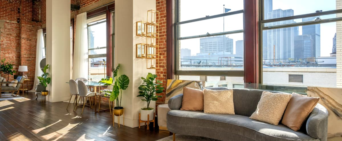Multiset Boho NYC/Soho Style PH with Skyline Views and Natural Light in Los Angeles Hero Image in Central LA, Los Angeles, CA