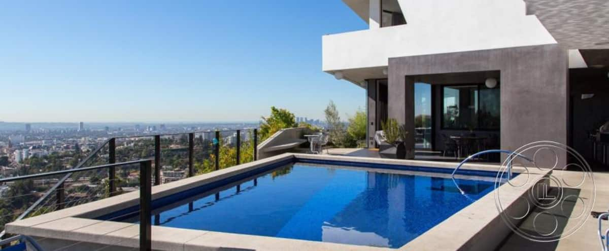 Gorgeous modern home with jetliner views in Hollywood Hills in hollywood Hero Image in Central LA, hollywood, CA