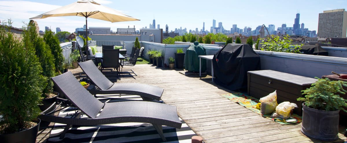 Skyline Roofdeck and Hip City Condo in Chicago Hero Image in Wicker Park, Chicago, IL