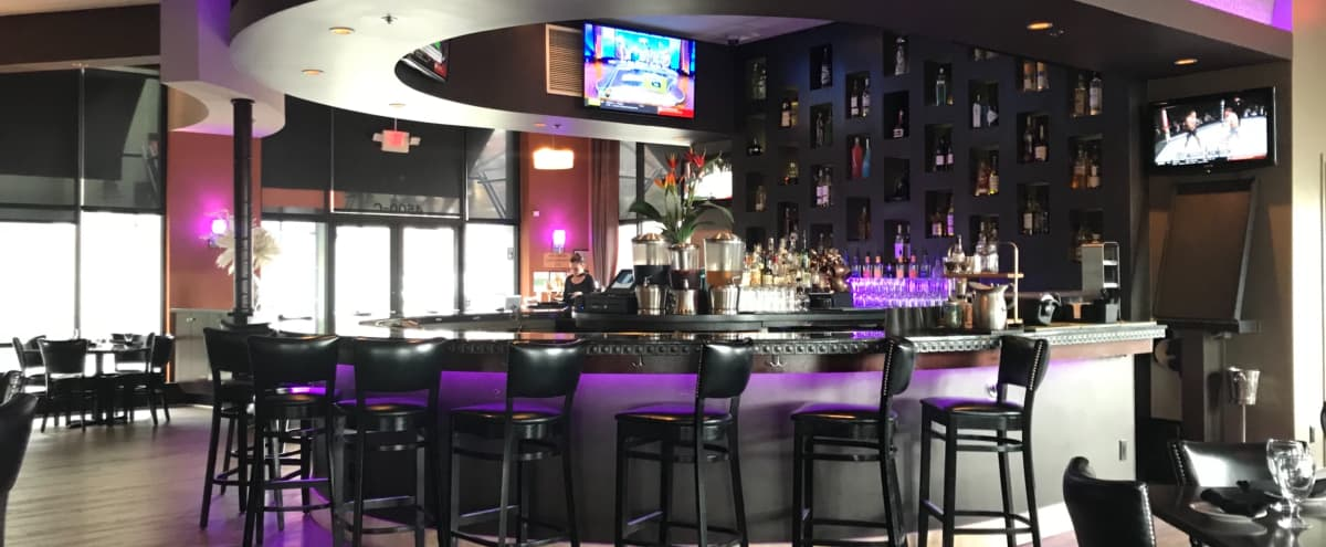 Open floor restaurant, roomy lounge bar, high ceilings, outdoor seating in Dublin Hero Image in undefined, Dublin, CA