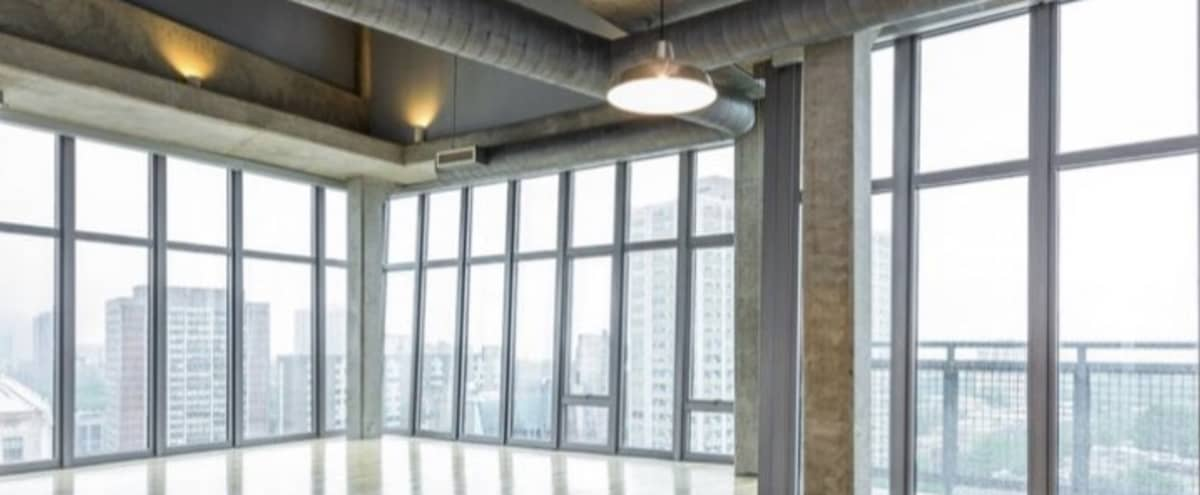Large open sunny loft with stunning views of Lake Michigan in Chicago Hero Image in Uptown, Chicago, IL