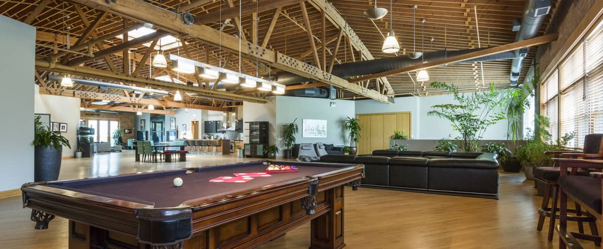 Stunning West Loop Loft with Pool Table & Outdoor Patio in Chicago Hero Image in West Loop, Chicago, IL