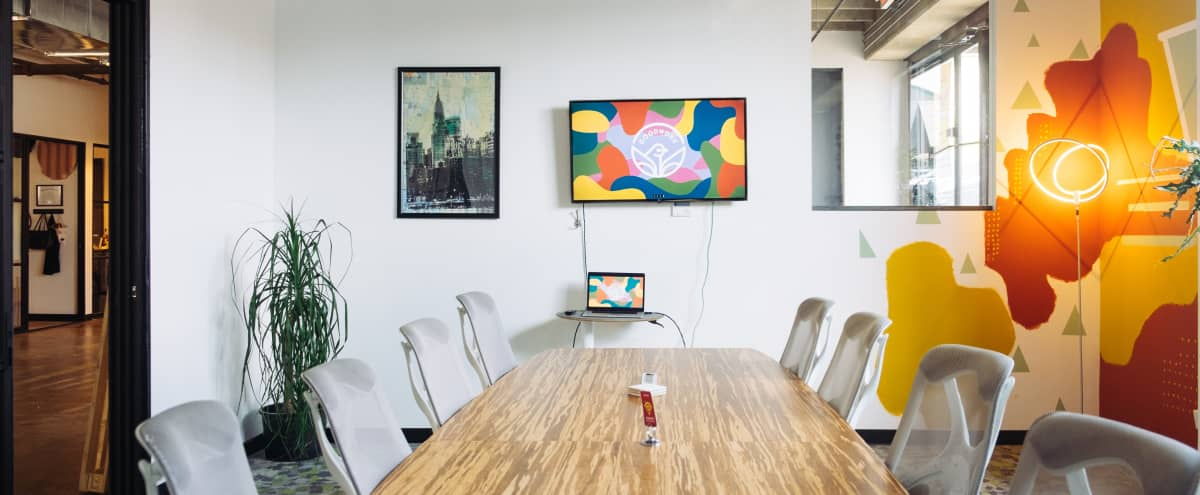 10 Person Meeting & Conference Room in Industrial Coworking Space in Dallas Hero Image in South Dallas, Dallas, TX