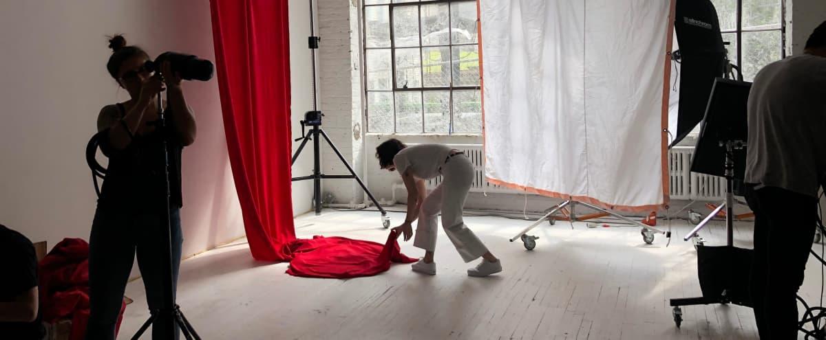 Bushwick Warehouse Studio with Wall of Windows in Brooklyn Hero Image in East Williamsburg, Brooklyn, NY