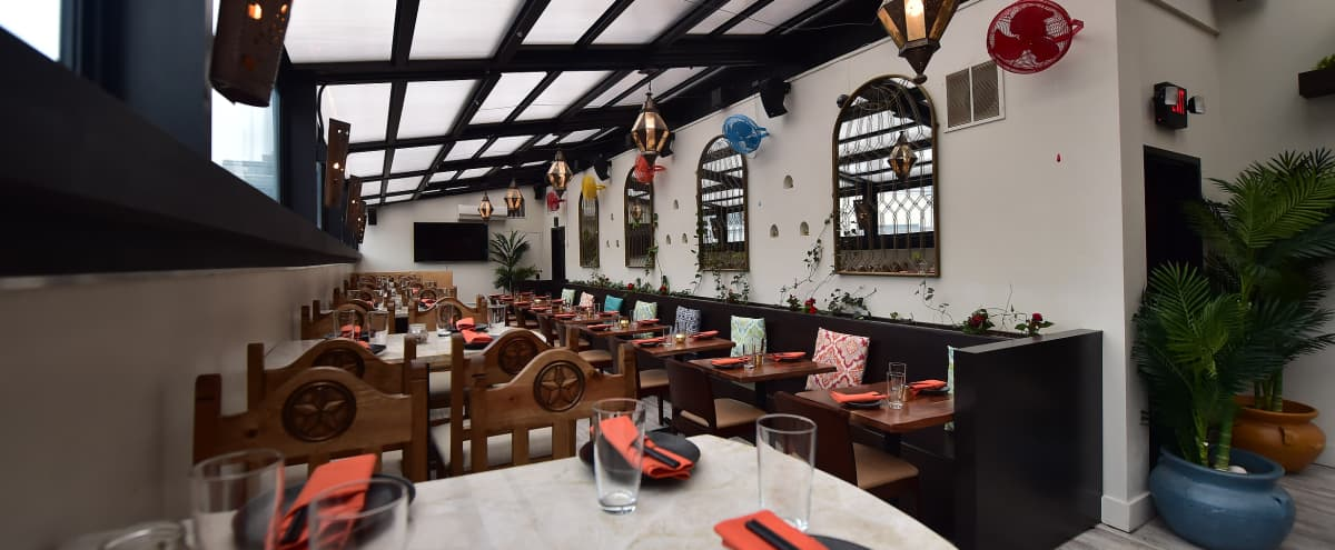 Private Rooftop Buyout | Two Story Downtown Restaurant with Retractable Rooftop in washington Hero Image in Cardozo, washington, DC