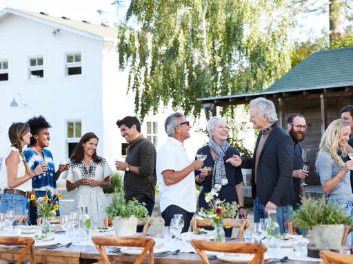 Host your next outdoor event in a private backyard, rooftop, or patio